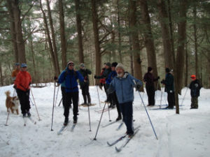 Skiing on Piney Knoll